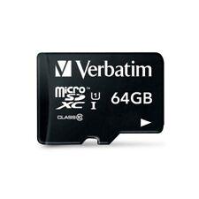 Verbatim 64gb Pro Microsdxc Memory Card With Adapter, Uhs-1 Class 10 - (44084)