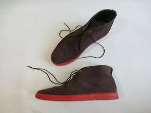 Schuhe Schnürschuhe CLAE Stiefelette STRAYHORN 9 43 Leder braun rot /24