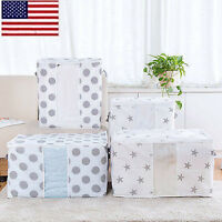 US Foldable Storage Bag Blanket Quilt Closet Clothes Sweater Pouch Organizer Box