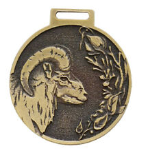 Mufflon Wildschaf Decorazione Medaglia Oro Onorificenza Pämierung Nuovo