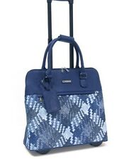 Cabrelli & Co Rolling Tote Carry on Wheeled Laptop Briefcase  Blue