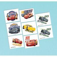 DISNEY CARS 3 TATTOO - 8 TATTOOS BIRTHDAY PARTY SUPPLIES