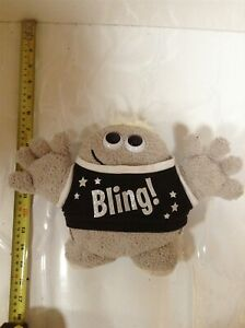 Collectable Hugmeez Grey Beanie With Bling Top | Soft Toy