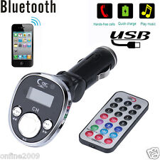 Bluetooth Car Kit FM Transmitter MP3 Player Wireless Radio Adapter USB Charger