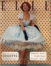 ▬►Elle  346 (1952) BETTINA_INGRID BERGMAN_FERNANDEL_MODE FASHION VINTAGE