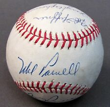 1963 SEATTLE RAINIERS PCL team signed autographed BASEBALL 17 Signatures