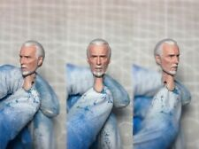 """Painted Service 1/12 Count Dooku Star Wars Head Sculpt fit 6"""" SHF ML Mez One:12"""