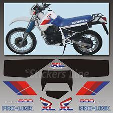 Kit adesivi Honda XL 600 RM 1986/90 stickers xl 600rm mod. Bianco decal xl600rm