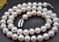 8-9mm Natürlichen weißen Akoya Perlenkette 46cm