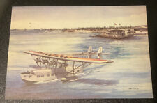 Vintage Postcard American Clipper First Pan AM 4 Engine Aircraft Airplane