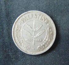 Munt Palestina/Palestine: 50 Mils 1939 (Zilver)