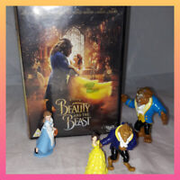 Disney Beauty And the Beast Bundle Cake Toppers toy figure DVD 2017 joblot