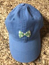 Smathers and Branson Needlepoint Golf Cap Hat Usa Light Blue Charleston Bow