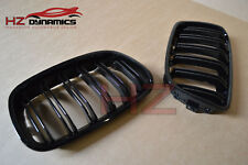 BMW 1 SERIES F20 F21 2011 TO 2014 DOUBLE SLAT GLOSS BLACK KIDNEY GRILLS GRILLE