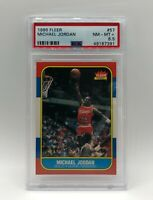 1986 Fleer Basketball Michael Jordan Rookie RC #57 PSA 8.5 NM-MT+