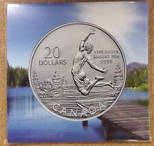 2014 Royal Canadian Mint $20.00 Silver Coin - Spring Time Lake Theme