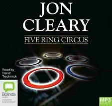 Five Ring Circus. Jon Cleary. NEW SEALED. Audio Book. MP3 CD. David Tredinnick