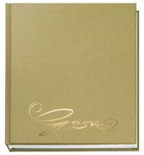 Veloflex Gästebuch 20x25 Classic Textil Design Gold