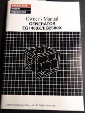2001 HONDA GENERATOR EG1400X & EG2500X OWNERS MANUAL (752)