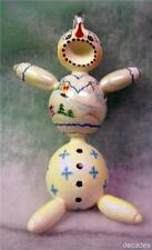 New Slavic Treasures Retired Glass Ornament - Snowbelly Snowman Extreme