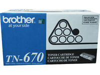 BROTHER TN-670 Black High Capacity Toner Cartridge 7.5k Genuine OEM Original