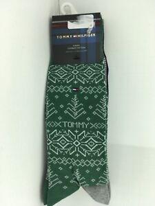 Men's TOMMY HILFIGER BOLD Festive 73% COTTON Dress Socks - 4 Pack - $36 MSRP-25%