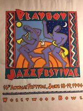 Playboy Jazz Festival Hollywood Bowl 1994 Felt Tshirt Sample Promo Vintage VTG
