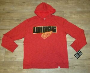 Detroit Red Wings Majestic Thermabase Textured Hoodie Jacket size Men's Large