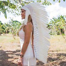 AMAZING CHIEF INDIAN HEADDRESS 130CM FEATHERS Native American Costume WAR BONNET
