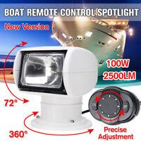 Boat Remote Control Spot Light Marine Remote Searchlight Truck Car 12V 100W