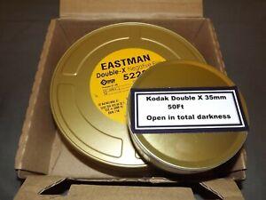 One X 50ft roll of Kodak Double-X 35mm B&W negative film.