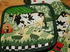 handcrafted NEW HOLSTEIN COW microwave potholder
