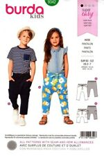 Burda Sewing Pattern 9342 Kids Boys Girls Pants Super Easy Size 2-7