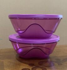 TUPPERWARE NEW ACRYLIC MEDIUM BOWLS SET 1 L/ 4 CUPS EACH -IN CLEAR PURPLE COLOR