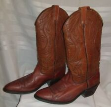 Dingo Acme Vintage Men's Leather Cowboy Boots Made in USA Size 9.5 D