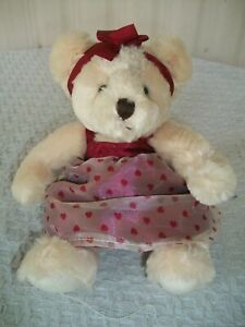 "Russ Berrie ~ Claudette ~ Plush Teddy Bear ~ 10"" Tall"