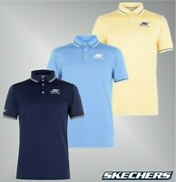 Mens Skechers Short Sleeves Buttoned Golf Polo Shirt Top Sizes from S to XXL