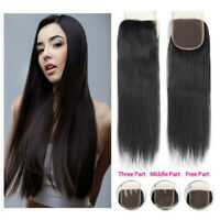 Remeehi 100% Brazilian Virgin Human Hair Lace Top Closure 4x4'' straight 3 parts