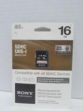 Sony Sdhc Uhs - 1 Memory 16gb NIB