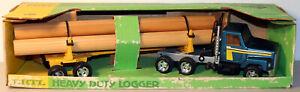 DTE VINTAGE ERTL # 3608 INTERNATIONAL LOGGER TRACTOR TRAILER TRUCK NIOB