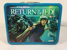 Vintage Star Wars Return Of the Jedi Thermos Metal Lunchbox 1983 Lucasfilm