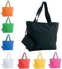 Womens Ladies Large Beach Tote Bag Shopping Handbag Purse Zipped Various Colours