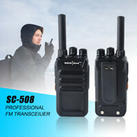 Rechargeable Two-Way Radios UHF Radio 400-470Mhz Mini Walkie Talkies 16CH 2Pack