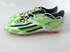 adidas f50 adizero FG Youths 5.5 Size Green & White. football boots VG Condition