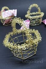 12 Baby Shower Metal Gold Basket baby Favors Party Decorations