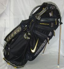 Black & Yellow NIKE GOLF SASQUATCH STAND BAG 14-Way Divided - Used