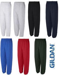 GILDAN Mens S M L XL 2XL Heavy Blend NO Pocket Sweatpants Jumper 50/50 g18200