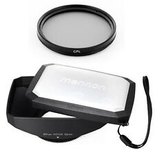 52mm 16:9 Wide Lens Hood,Filter for Sony HDR-PJ790V PJ790 PJ790V PJ710V FDR-AX33