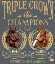 American Pharoah -Justify Triple Crown Winner Poster Art Vintage Style SFASTUDIO