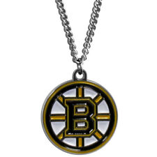 "Boston Bruins 22"" Chain Necklace Metal Logo NHL Licensed Hockey Jewelry LG"